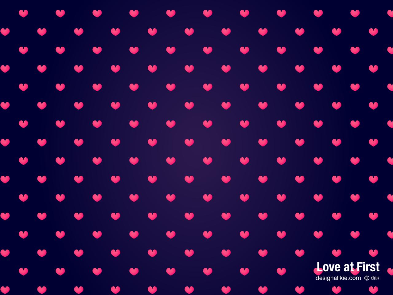 Cute Heart Pattern Wallpaper