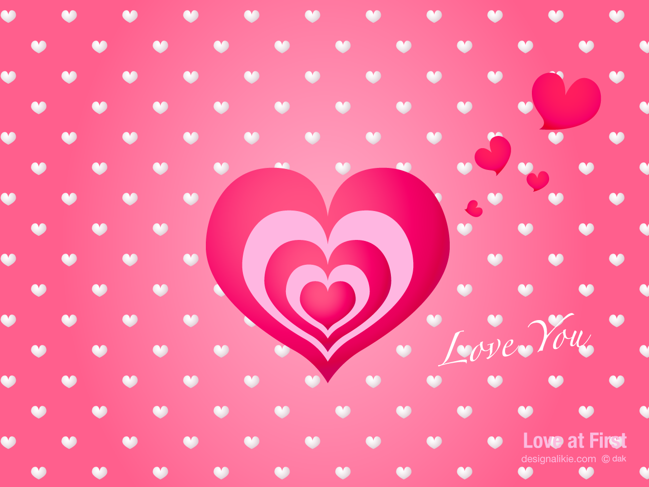 Love cute Heart Wallpaper : cute Pink Heart Wallpaper