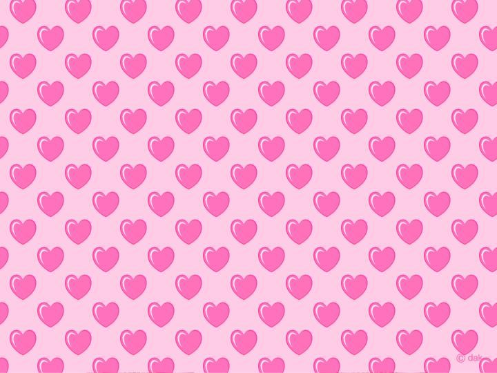ハートマークの壁紙 ハートマーク柄パターンの壁紙素材  可愛いハート柄のPCデスクトップ壁紙(ガーリー・女の子向け)画像集【恋愛運がアップしそう!