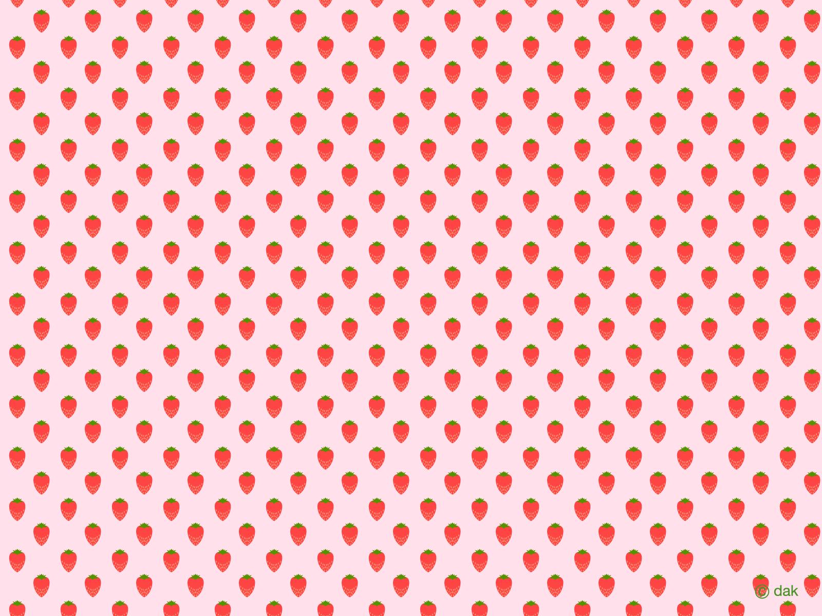Strawberry Pattern Wallpaper|Free desktop wallpaper ...